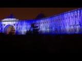 Новогоднее лазерное шоу на дворцовой площади